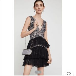 BCBG lace and tulle dress